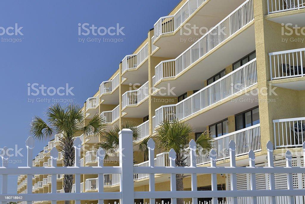 Hotel at Folly Beach stock photo
