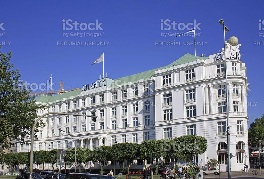 Hotel Atlantic in Hamburg royalty-free stock photo