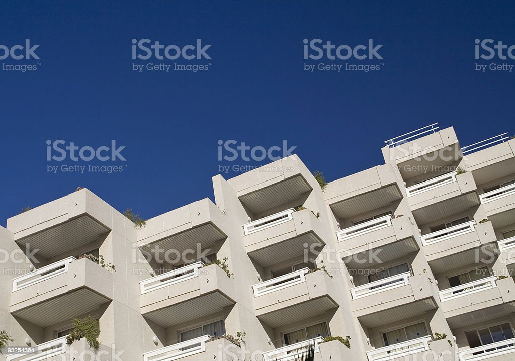 Hotel balconies royalty-free stock photo