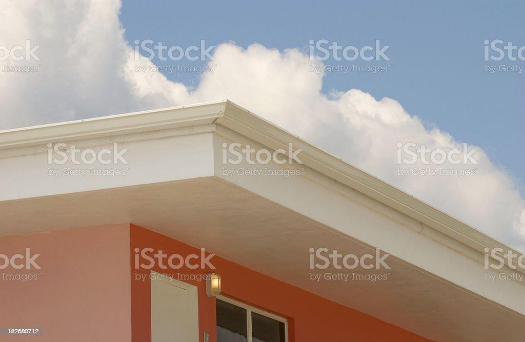 Hotel Balcony with Light stock photo