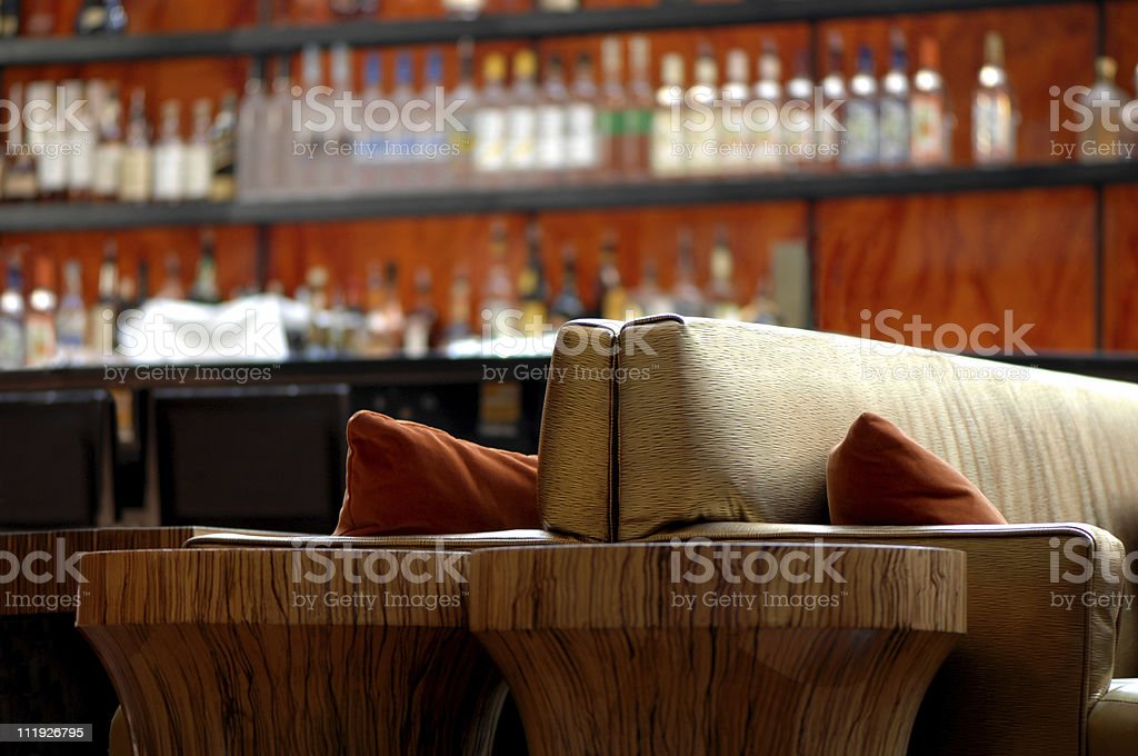 A bar at a posh hotel