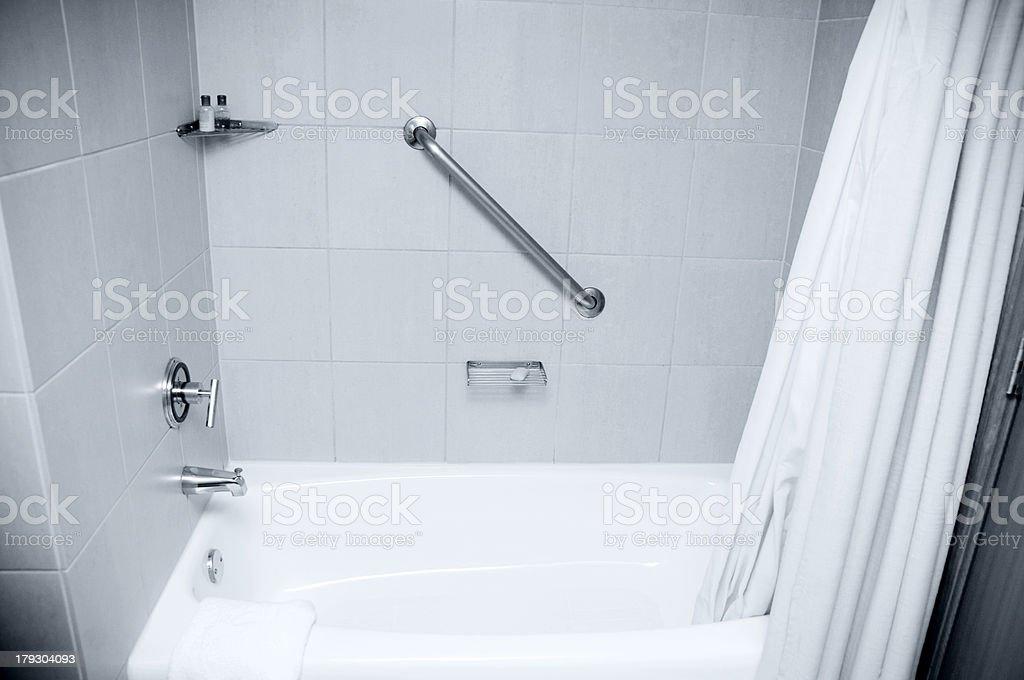 Hotel Bath, Shower stock photo