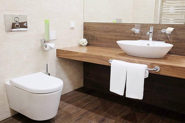 ホテルのバスルーム - お手洗い ストックフォトと画像