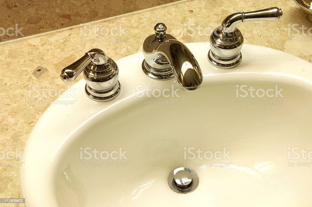 Hotel Bathroom Sink royalty-free stock photo