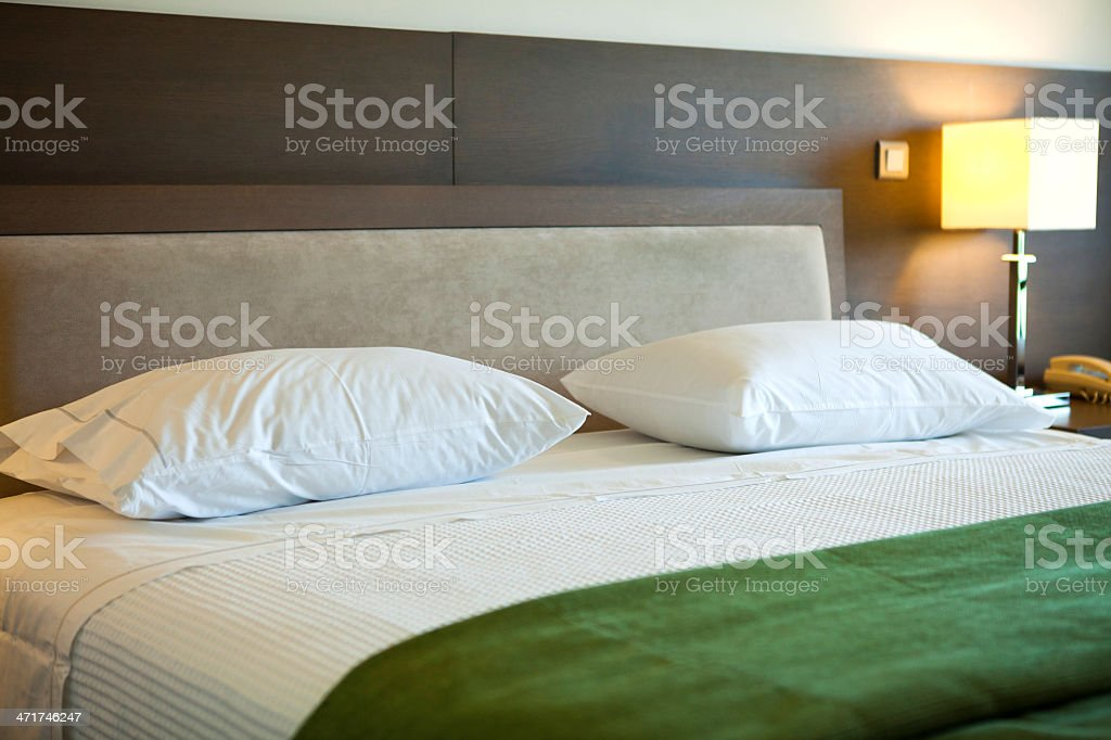 Hotel Bed stock photo