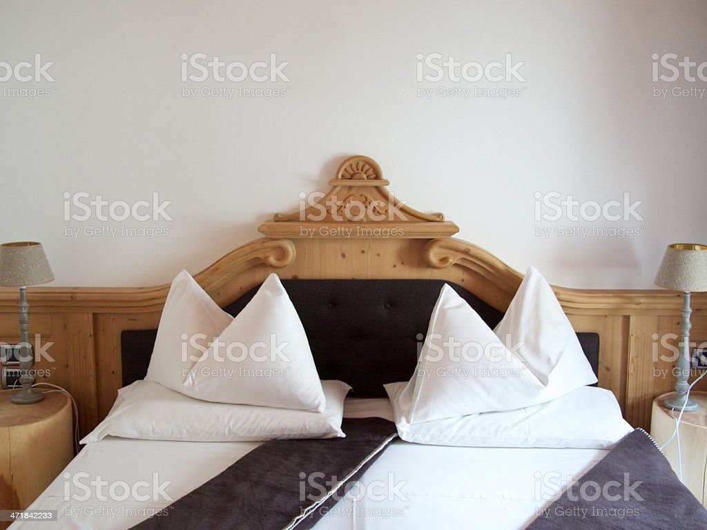 Hotel bed room royalty-free stock photo