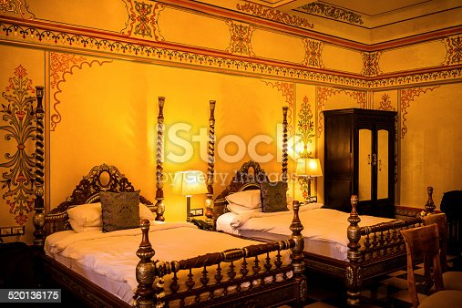 istock Hotel Bedroom in India 520136175