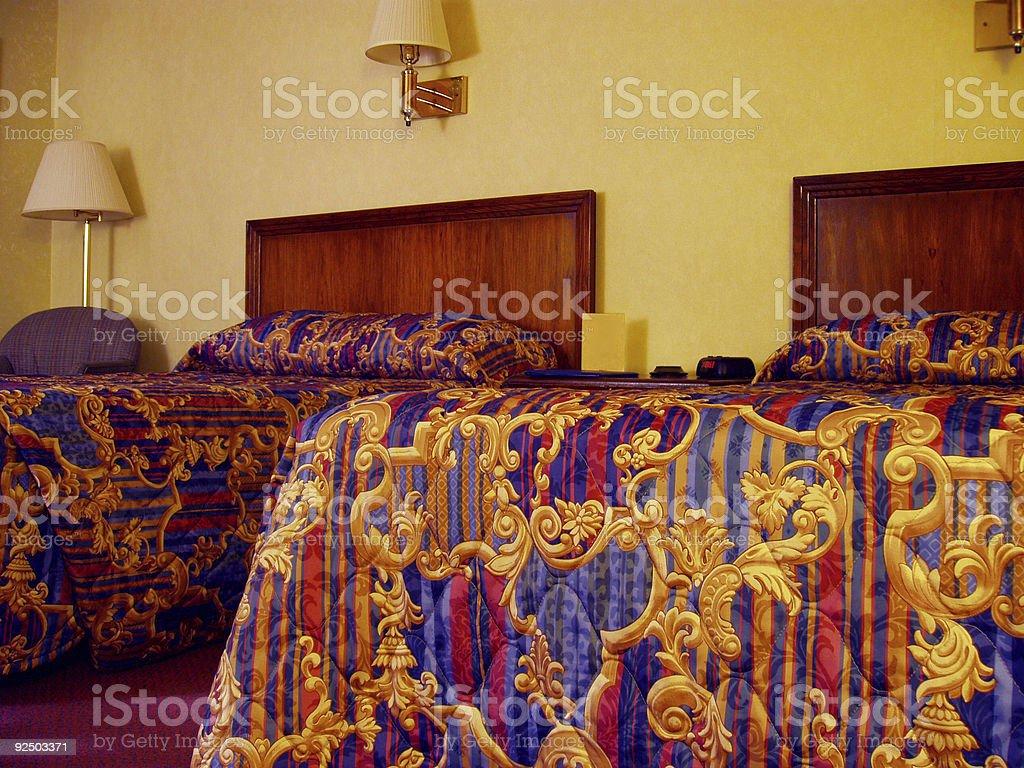 Hotel Bedroom - Travel royalty-free stock photo