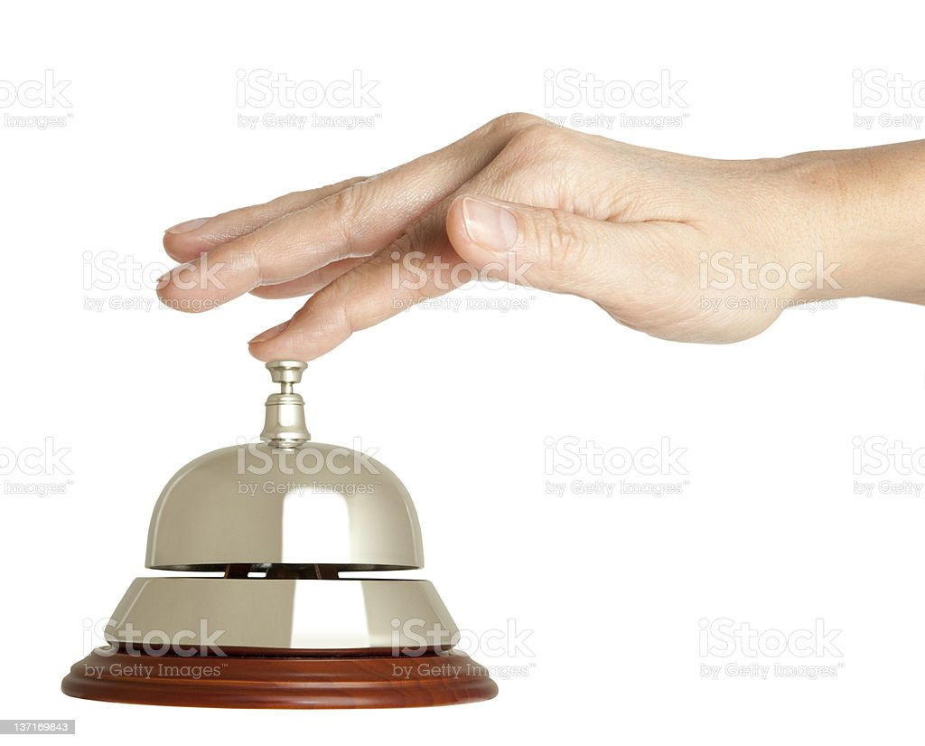 hotel bell  isolated royalty-free stock photo