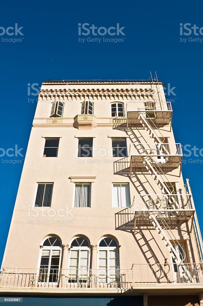 Hotel blue sky royalty-free stock photo