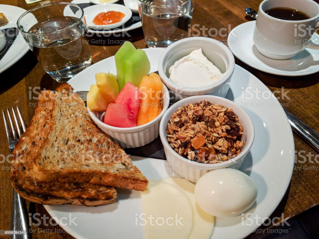 Hotel Breakfast stock photo