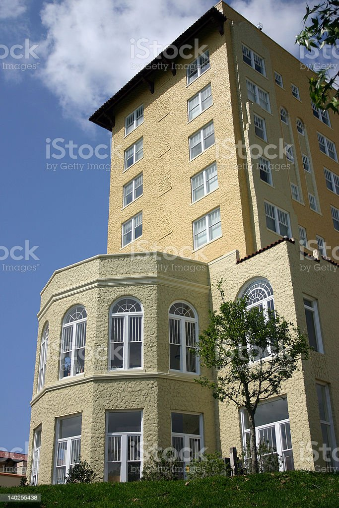 Hotel building in downtown Lakeland, Florida stock photo