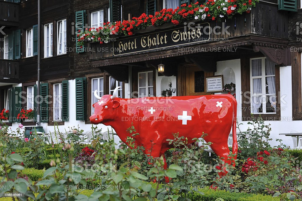 Hotel Chalet Swiss royalty-free stock photo