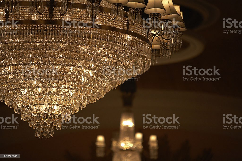 Hotel Chandelier royalty-free stock photo
