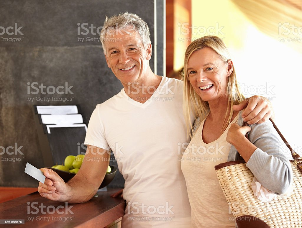Hotel check-in royalty-free stock photo