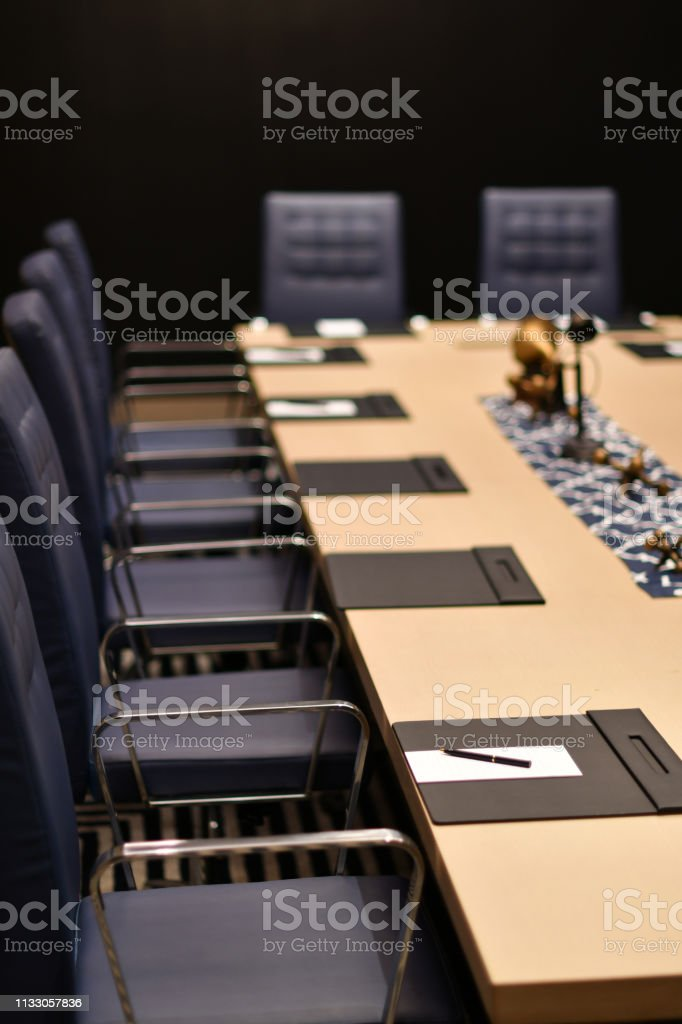 Hotel Conference Room stock photo