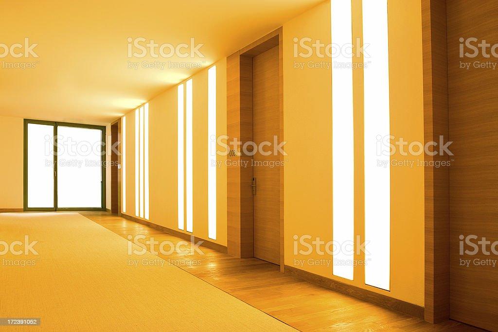 Hotel Corridor royalty-free stock photo