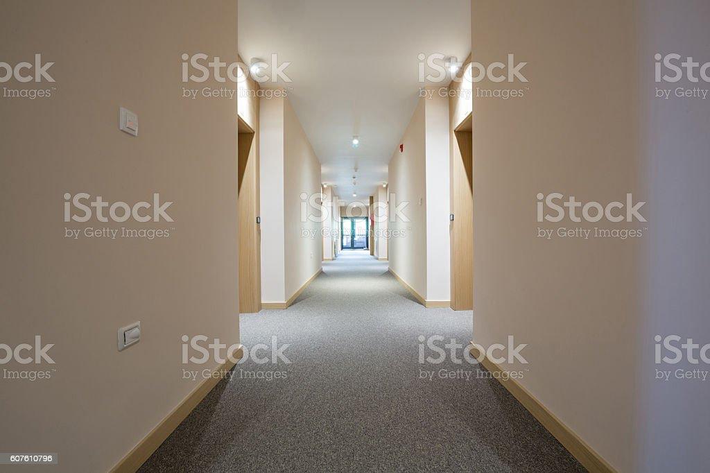 Couloir de l'hôtel photo libre de droits