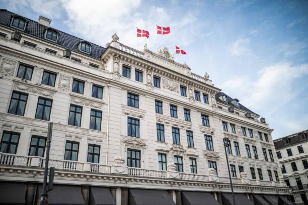 Hotel d'Angleterre in central Copenhagen, Denmark stock photo
