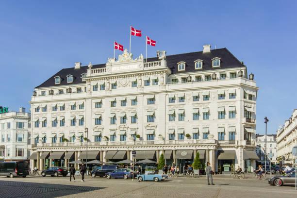 hotel d´angleterre in kopenhagen - hotels in kopenhagen stock-fotos und bilder