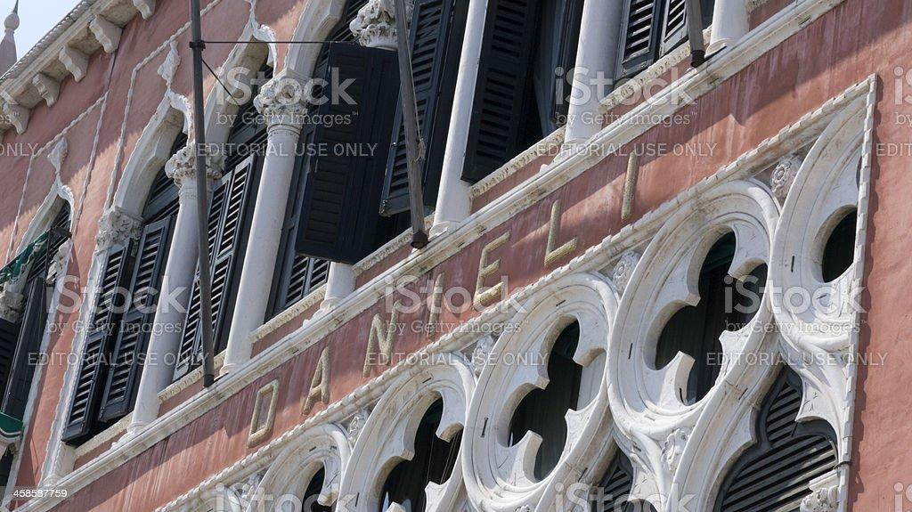 Hotel Danieli, Venice, Italy; façade detail royalty-free stock photo