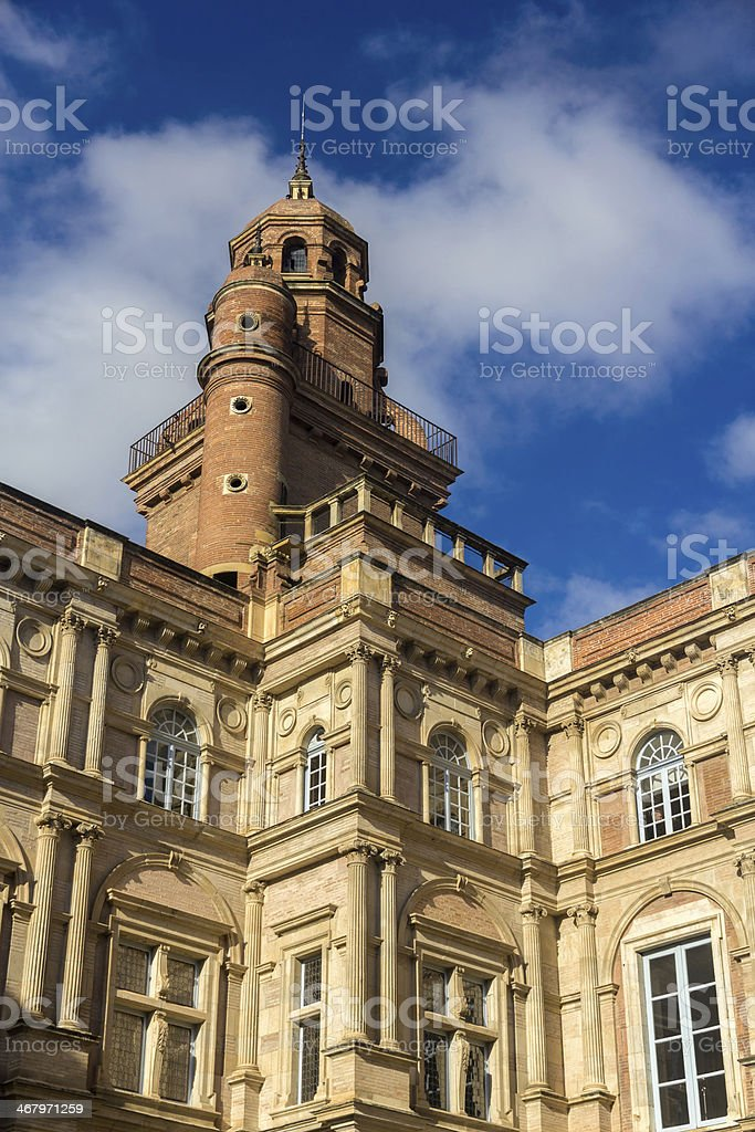Hotel d'Assezat in Toulouse - France stock photo