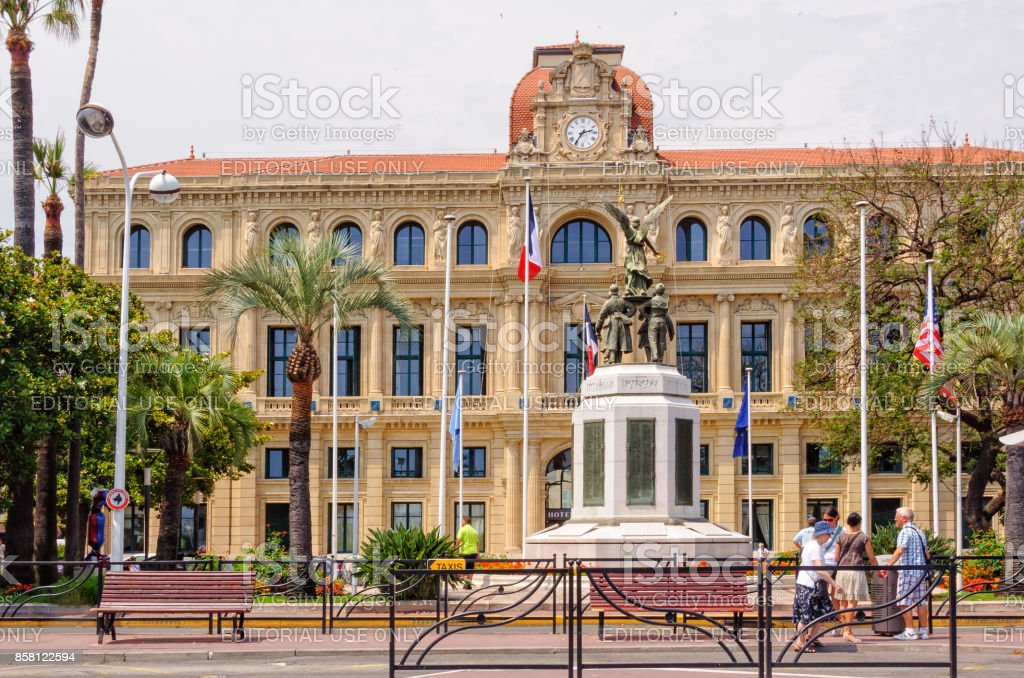 Hotel de Ville - Cannes stock photo