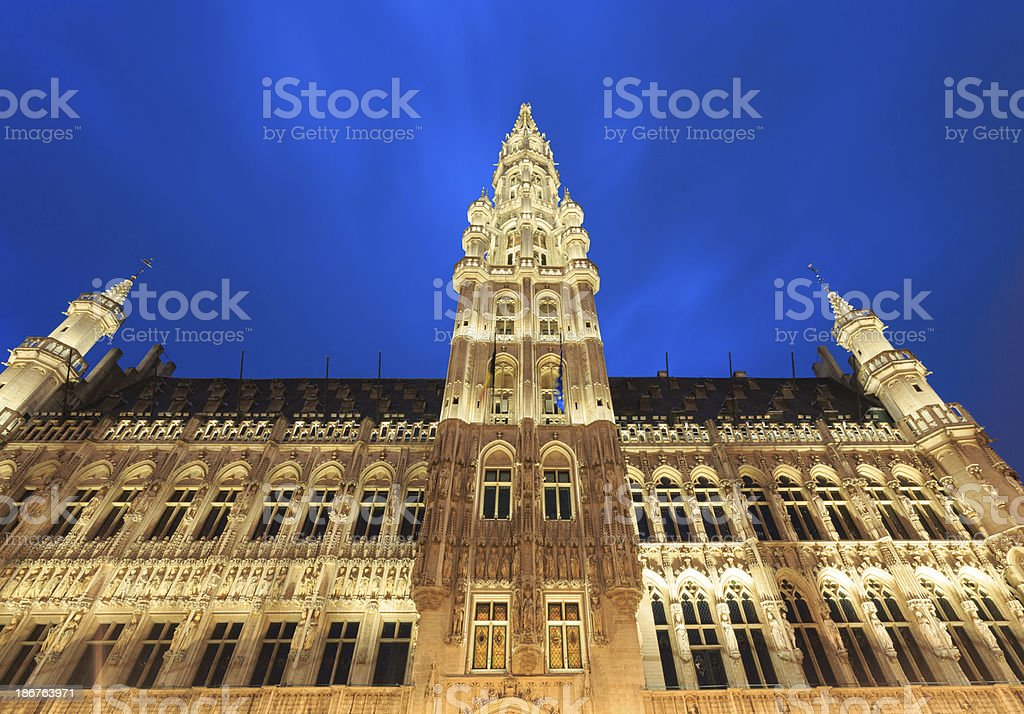Hotel de Ville in Brussels stock photo