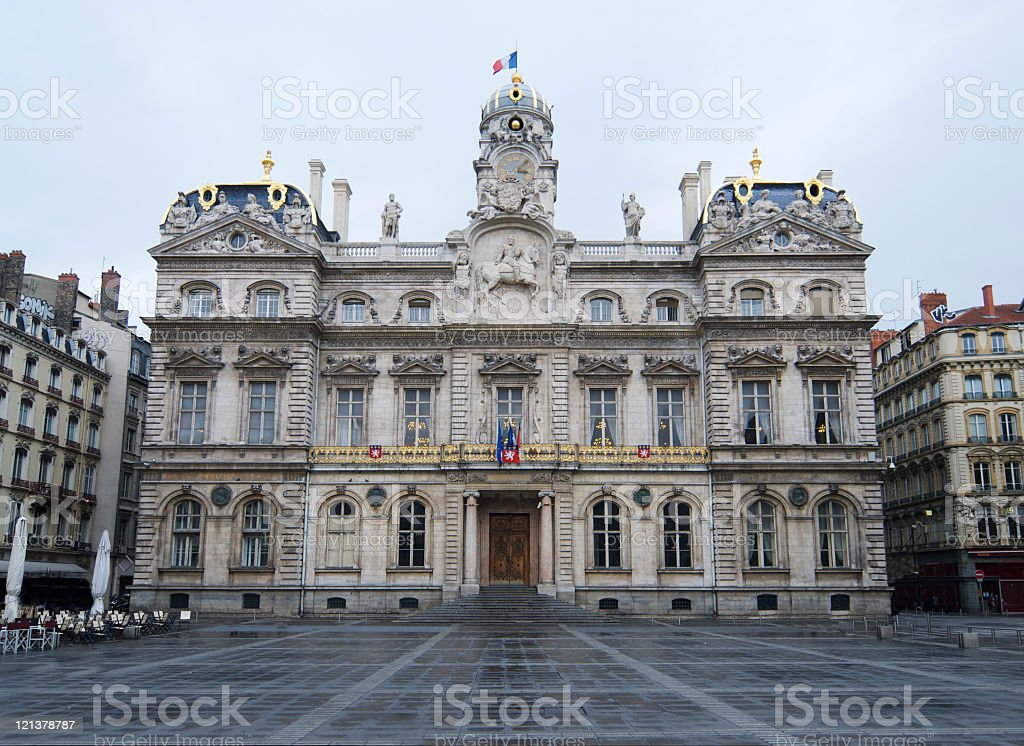 Hotel de Ville in Lyon stock photo
