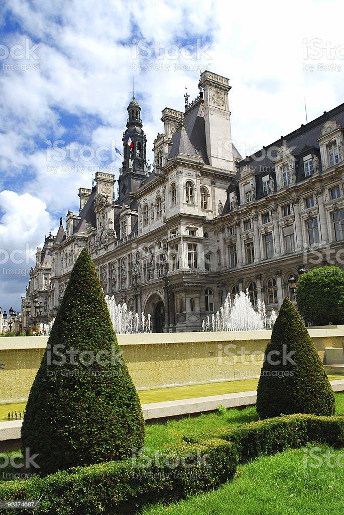 Hotel de Ville in Paris royalty-free stock photo