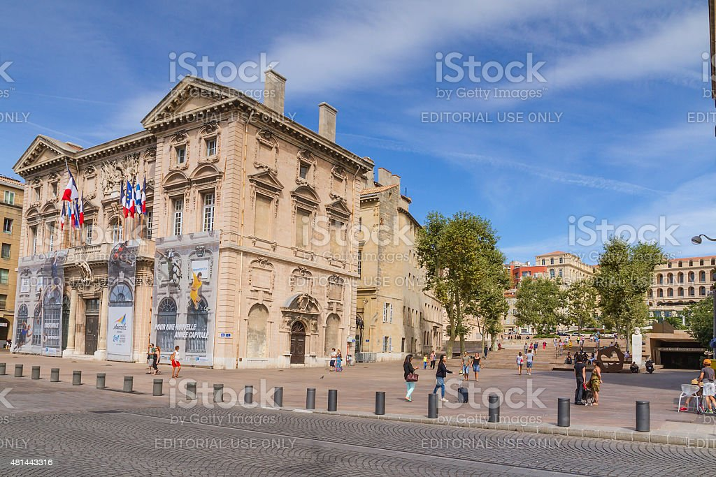 Hotel de Ville - Marseille stock photo
