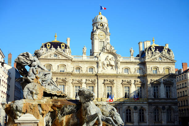 Hotel de Ville (City hall) of Lyon, France, Europe stock photo