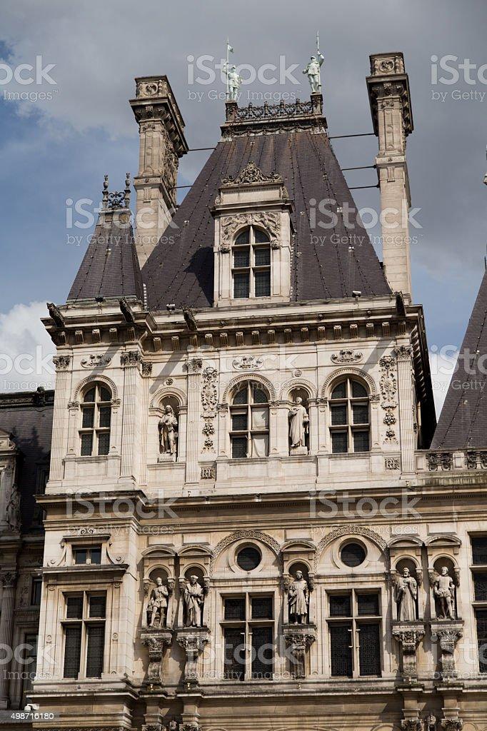 Hotel de Ville Paris stock photo