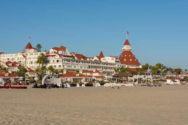Das Hotel del Coronado begrüßt Sie in Coronado am Pazifischen Ozean. US National Historic Site. San Diego (Kalifornien) – Foto