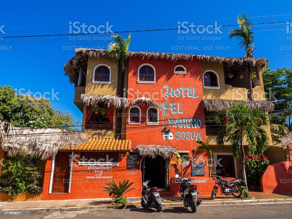 Hotel Del Rancho Sosua, Dominican Republic royalty-free stock photo