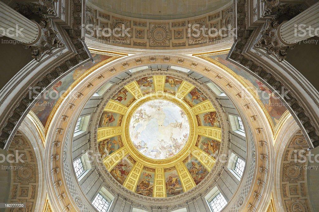 Hotel Des Invalides' dome stock photo