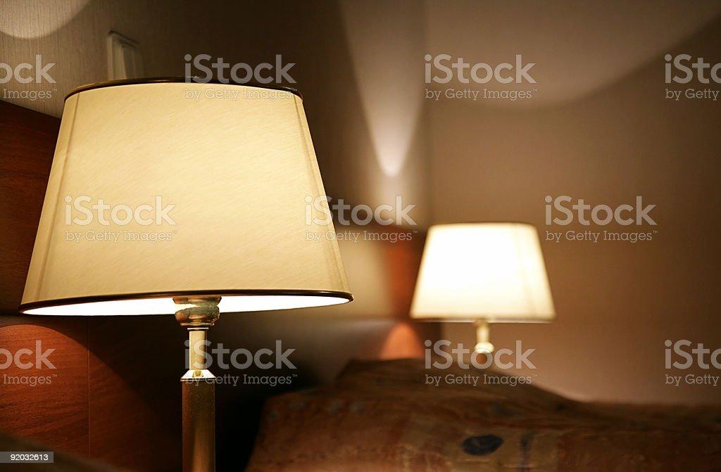 hotel, desk lamp royalty-free stock photo