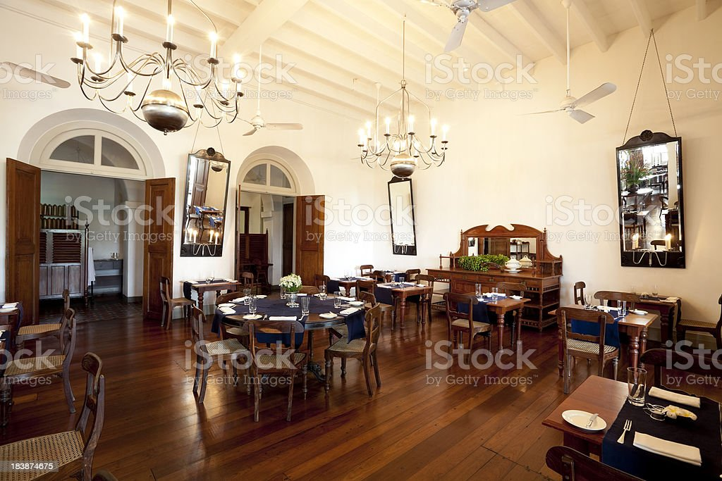 hotel dining room royalty-free stock photo