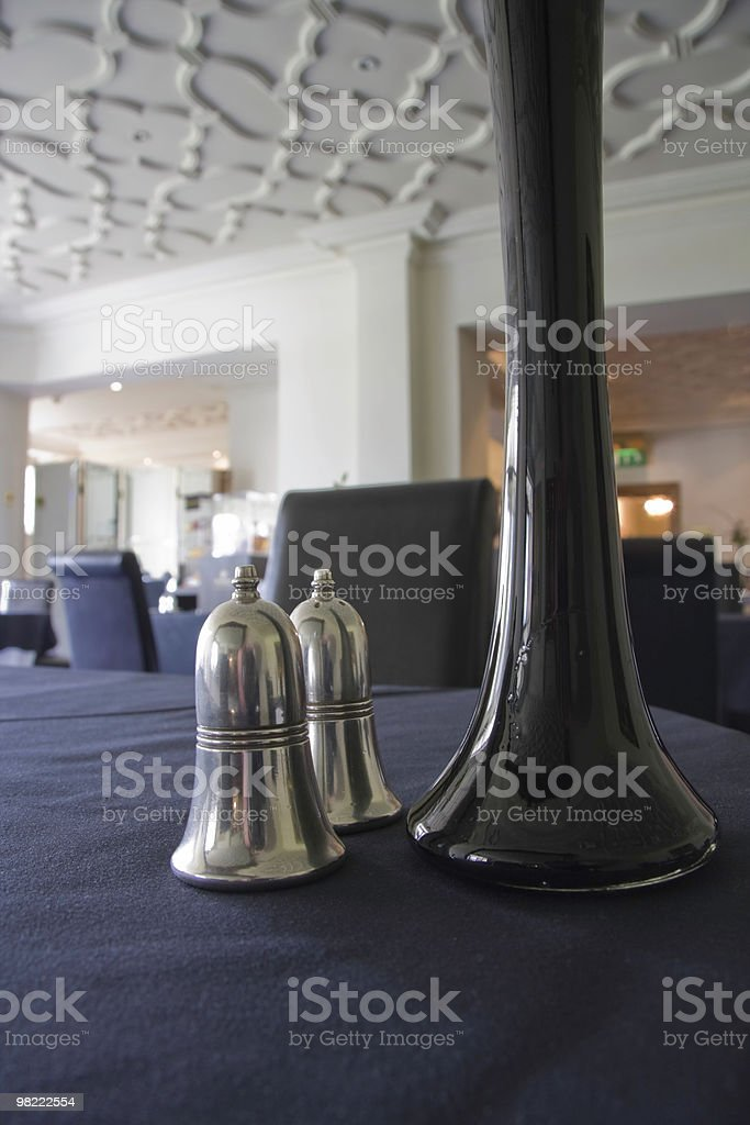 Hotel Dining Room Table royalty-free stock photo