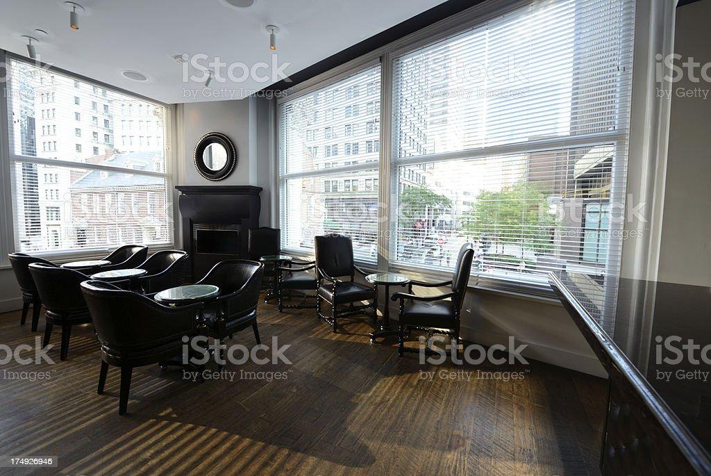 Hotel Dining Room,Boston stock photo