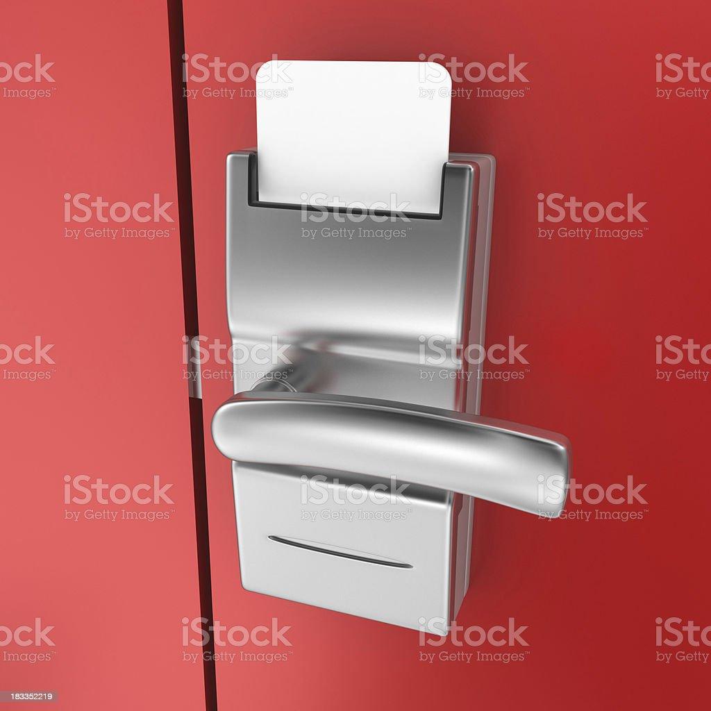 Hotel Door and Cardkey stock photo