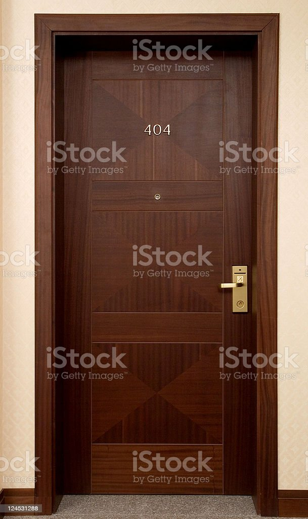 Hotel door stock photo