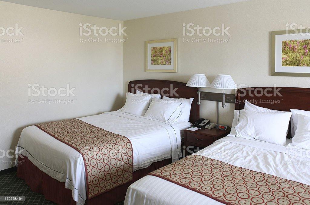 Hotel Double Room royalty-free stock photo
