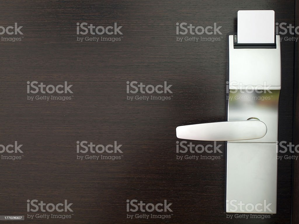 Hotel electronic lock stock photo