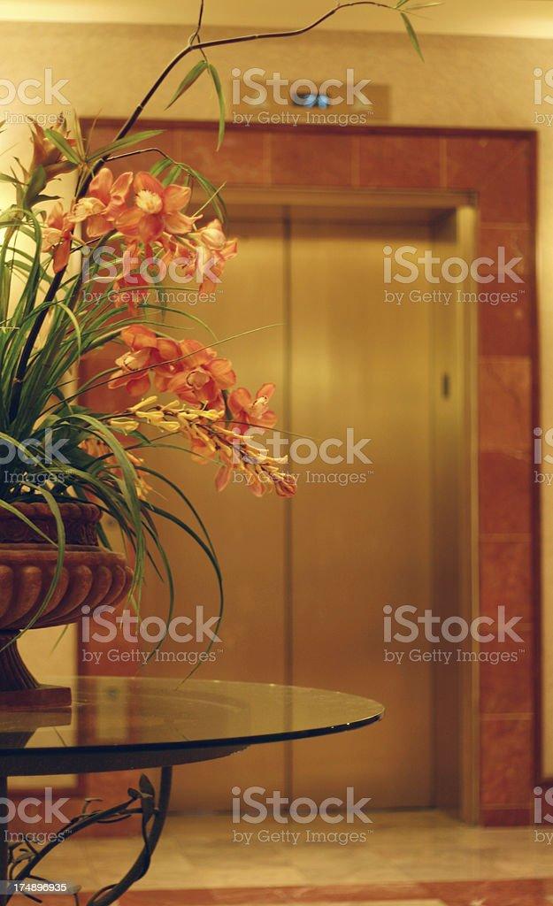 Hotel Elevator royalty-free stock photo