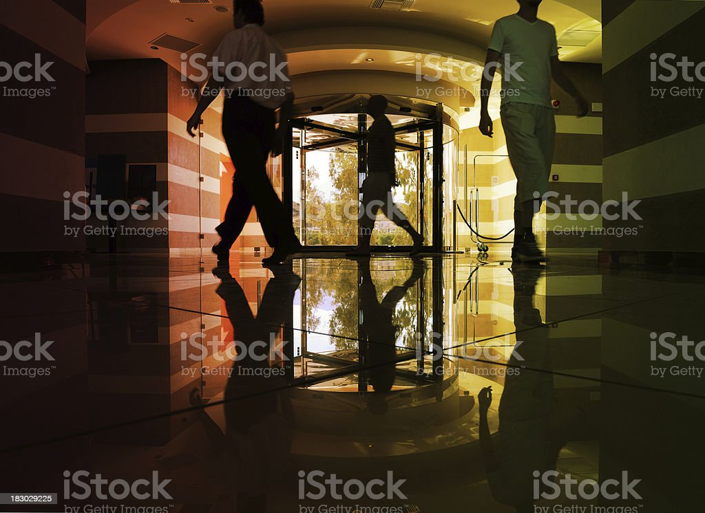 Hotel entrance in marble and steel royalty-free stock photo