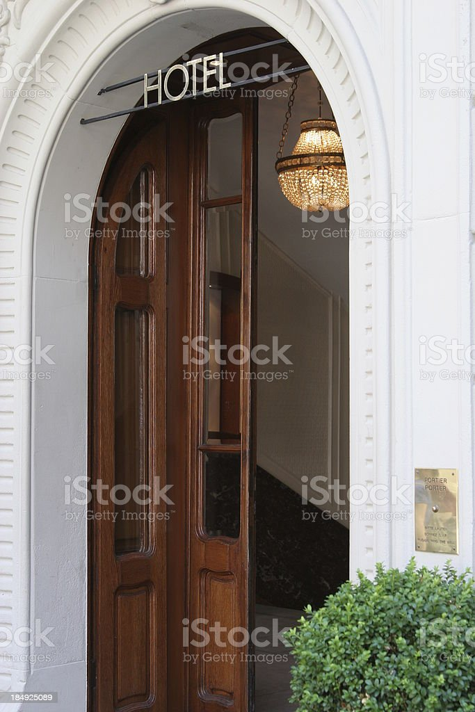 \'Hotel Entrance, European Luxury Hotel\'