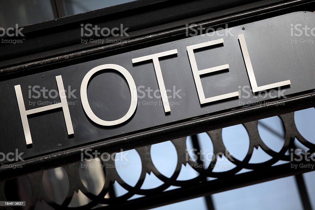 Hotel entrance sign royalty-free stock photo