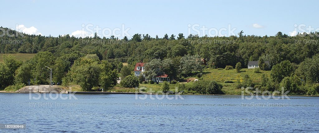Hotel Evendale by cable ferry landing stock photo