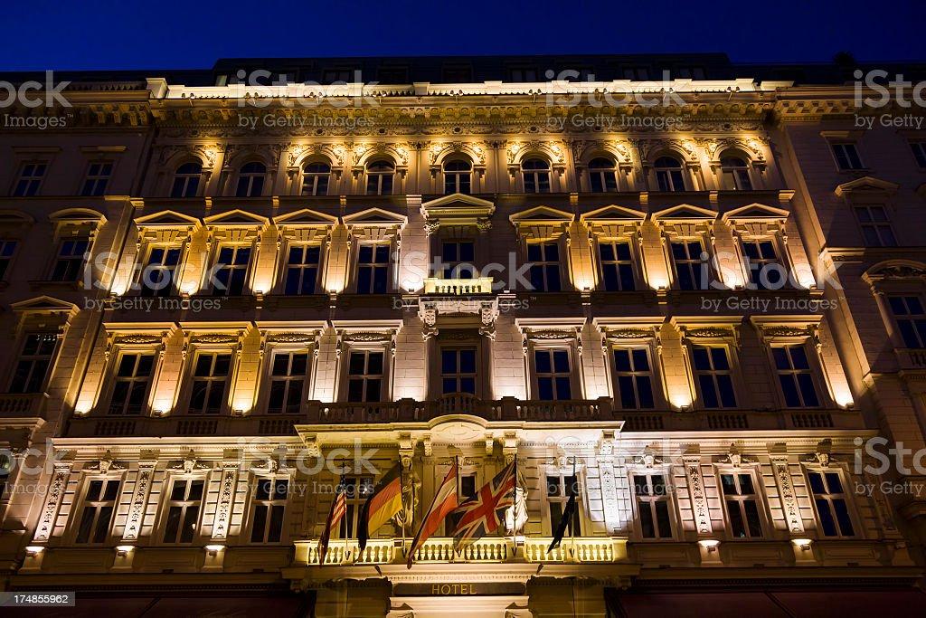 Hotel exterior in Vienna, Austria royalty-free stock photo